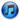 iTunes logo blue 20 by 20 pixels