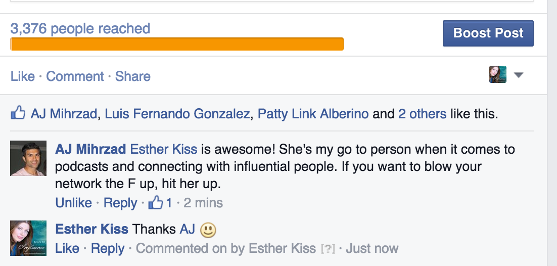 esther kiss testimonial